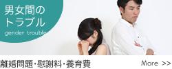 男女間のトラブル/離婚問題・慰謝料・養育費